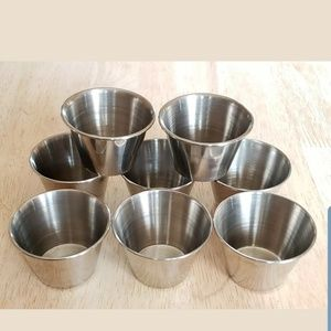 8 Stainless Steel Sauce Cups Containers 1.5 Ounce